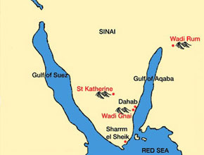 Rock Climbing Sinai Map